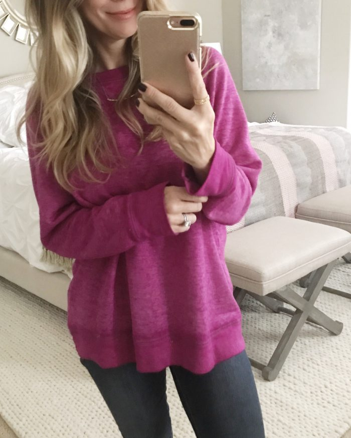 purple burnout sweatshirt