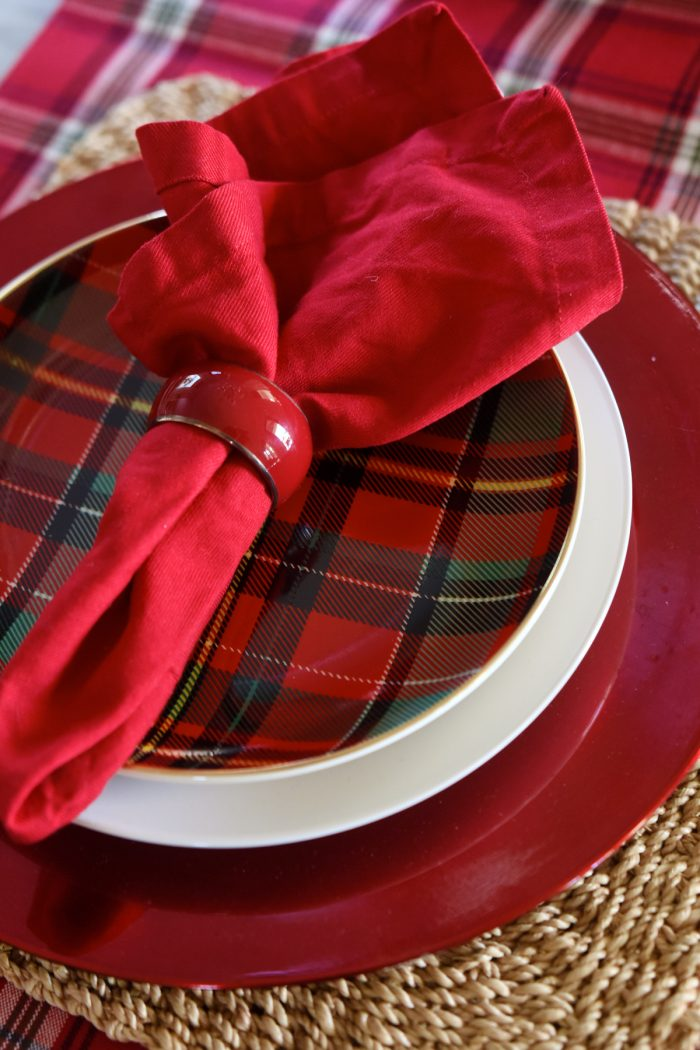 Christmas Home Tour -Dining Room Napkins -Honey We're Home