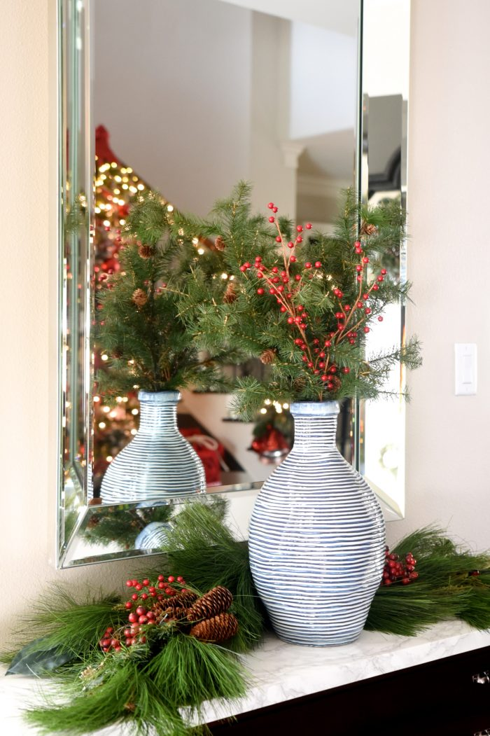 Christmas Home Tour -Foyer -Honey We're Home
