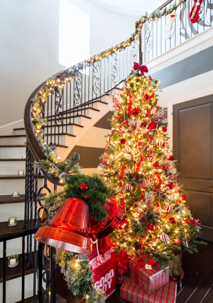 Christmas Home Tour - Red Christmas Tree -Honey We're Home (2)