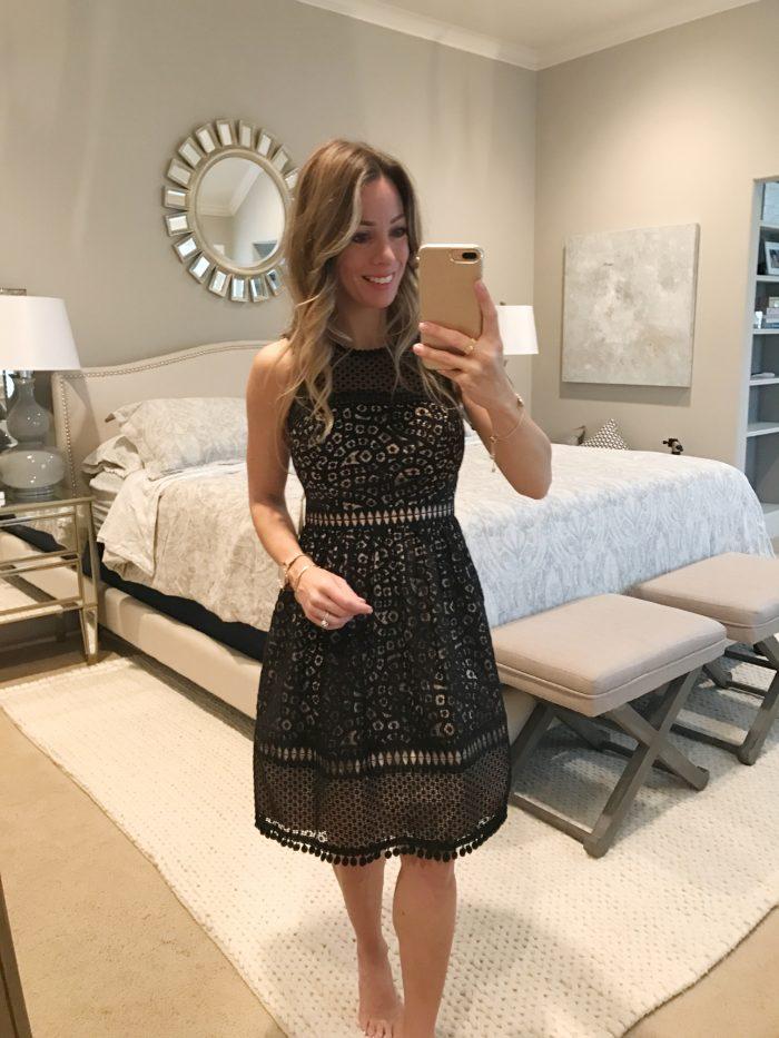 Eliza J overlay dress