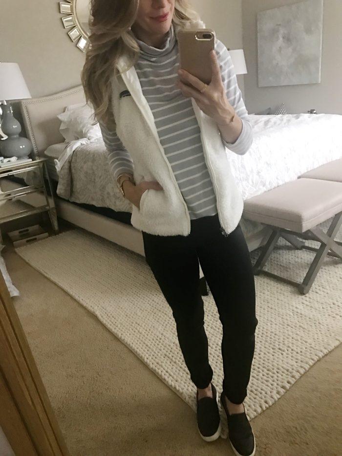 Jen7 black jeans and vest