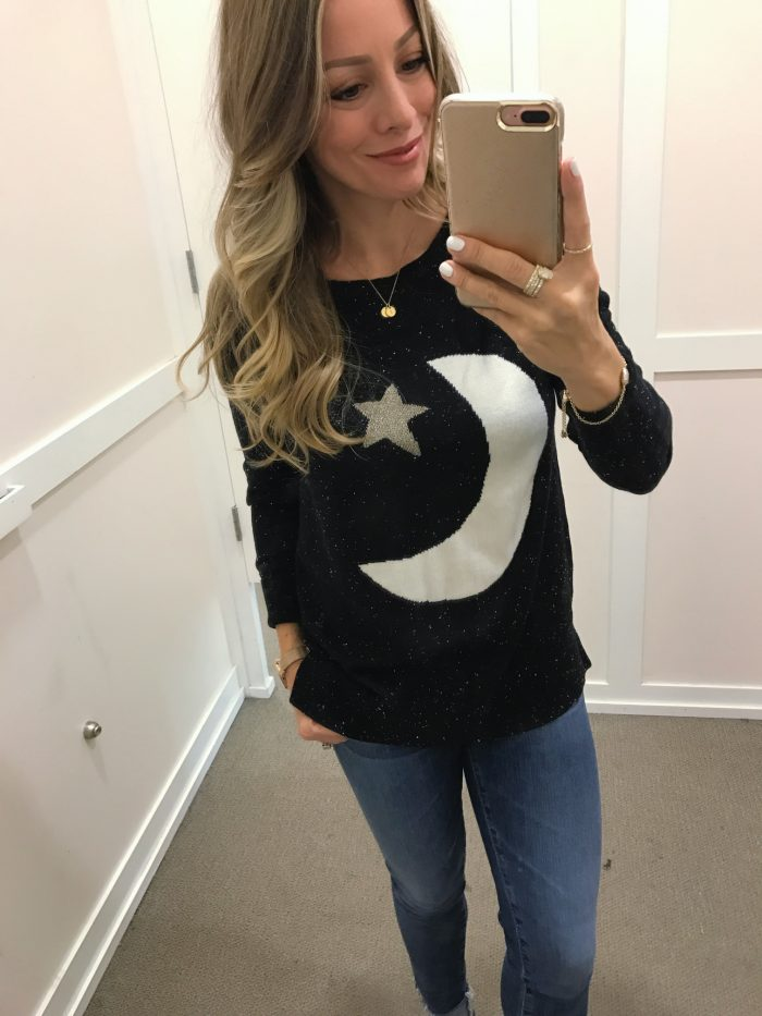 Loft moon and star sweater