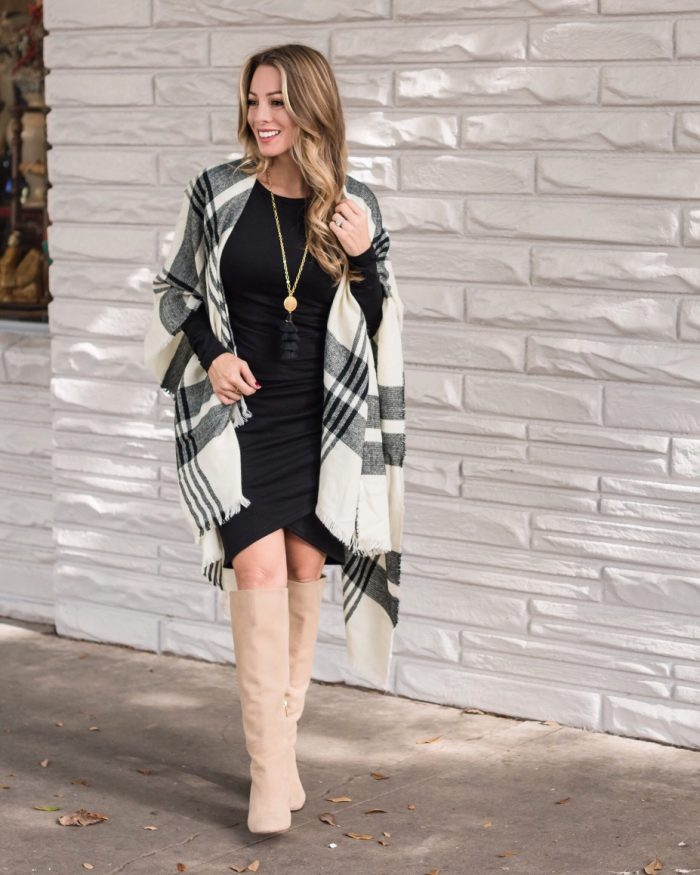 Magic Dress and poncho with tall boots