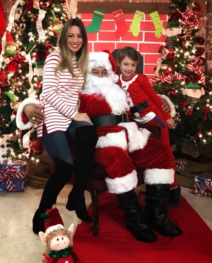 Santa with James