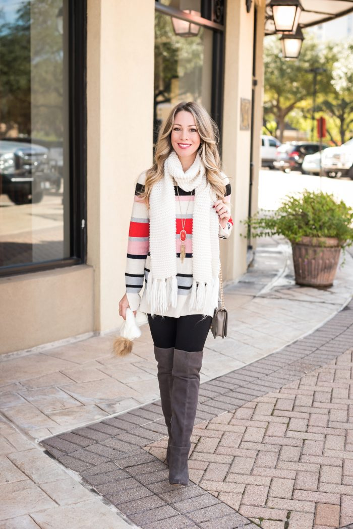 Striped sweater leggings grey boots.1