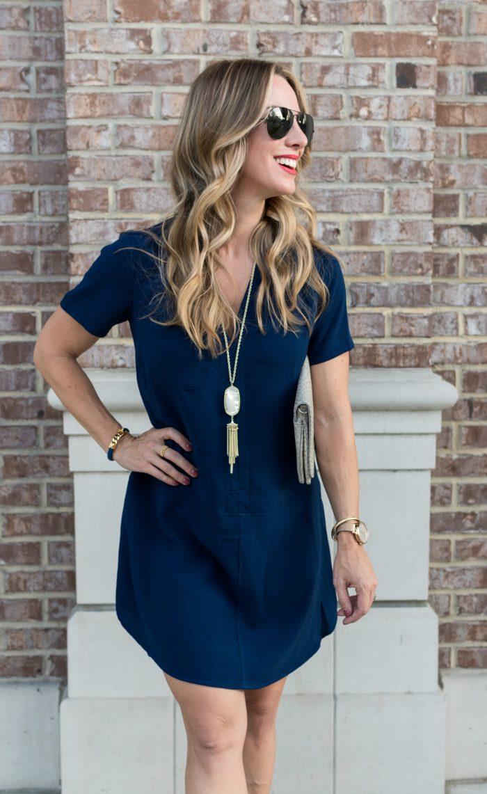 blue dress pendant necklace