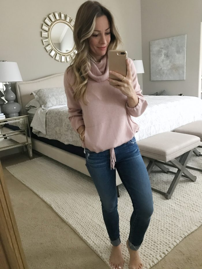 soft pink pulloversoft pink pullover