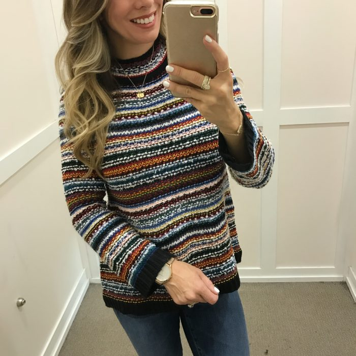 striped loft sweater