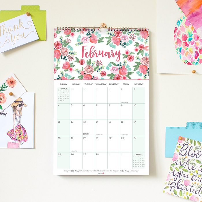 Bloom wall calendar 2018
