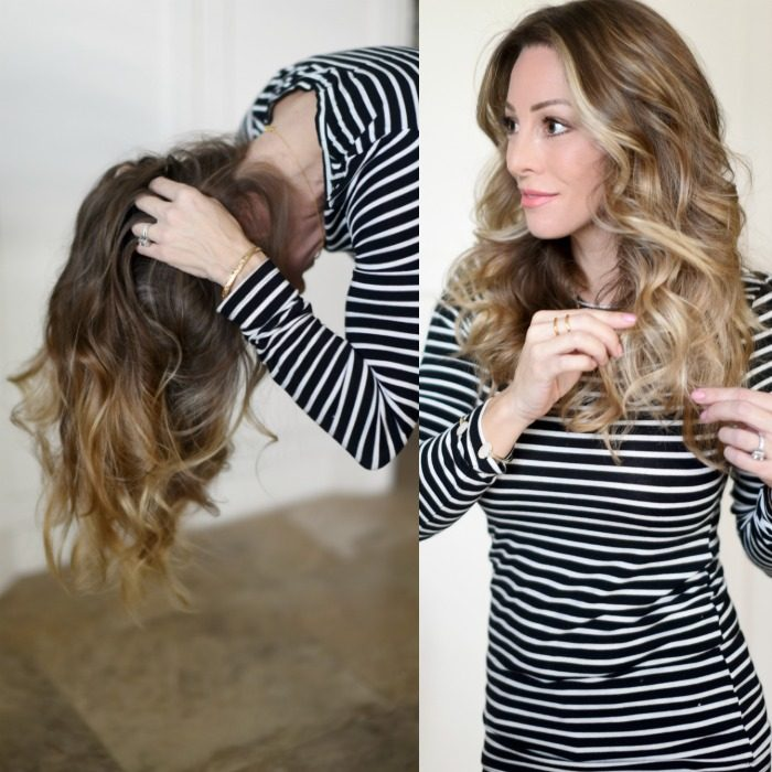 How to style loose waves in hair
