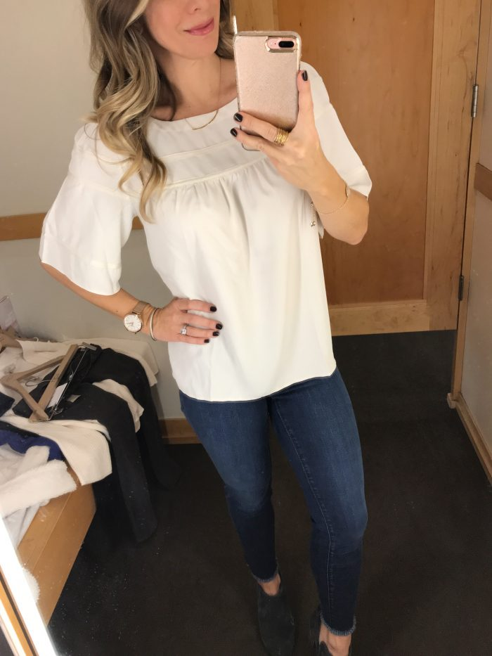 Loft blouse and modern skinny jeans