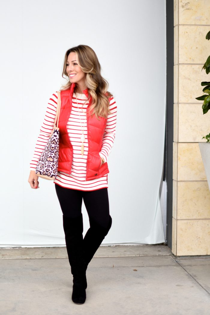 Red white stripe tunic and leggings (1)