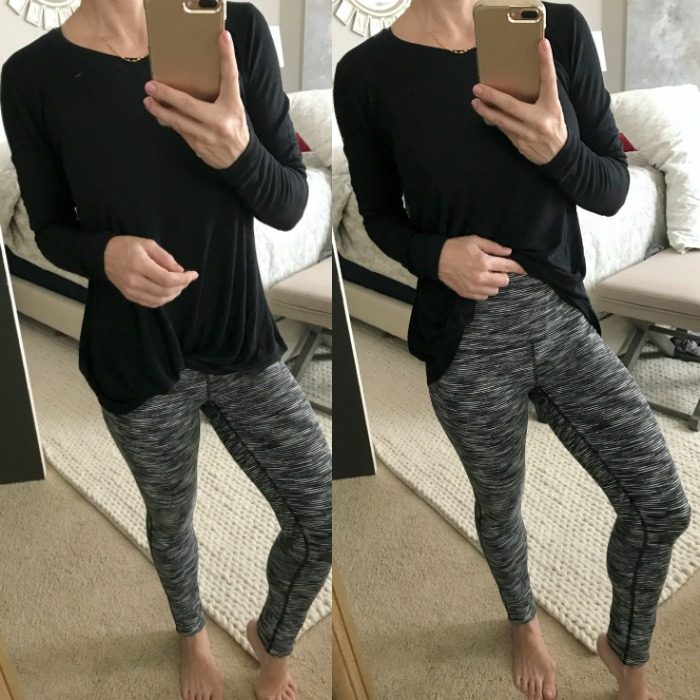 Zella twist tie top and high waist leggings