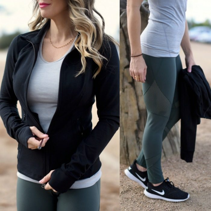 Zella workout jacket and leggings