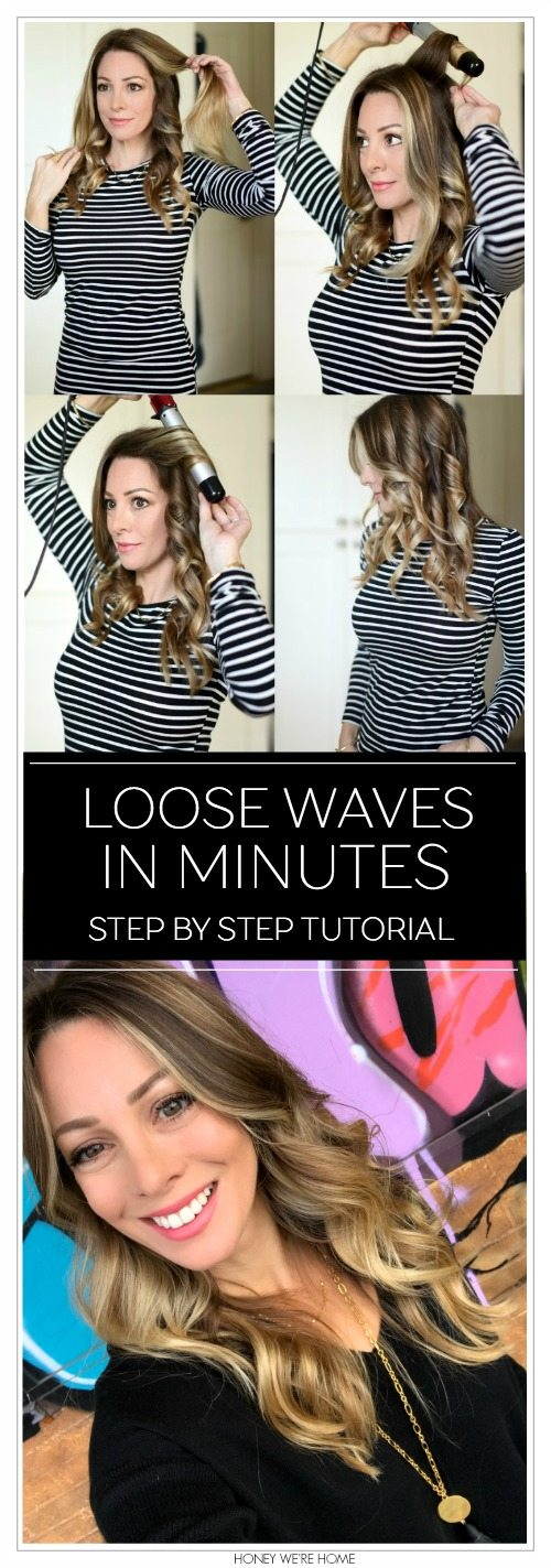 how to get loose waves in minutes- step by step tutorial