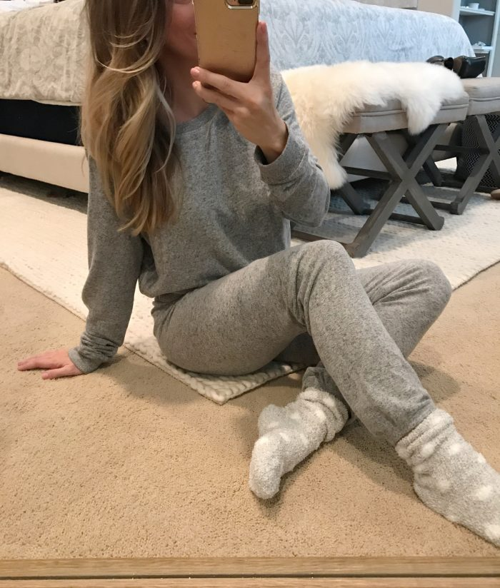 cozy pajamas and socks