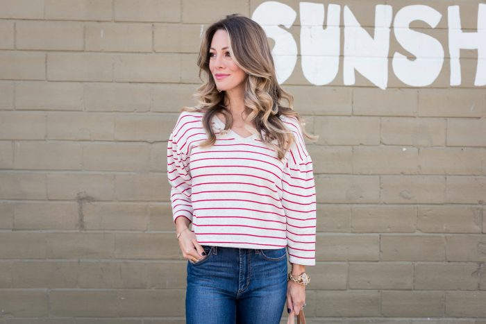 striped top and jeans with red heels 2 (4)