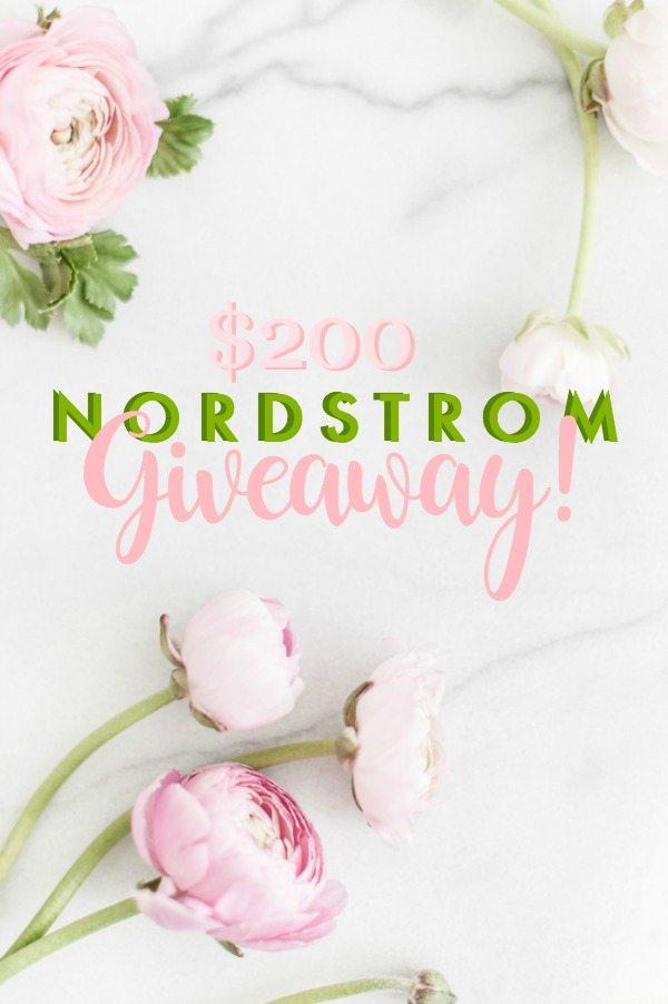 $200 Nordstrom Giveaway