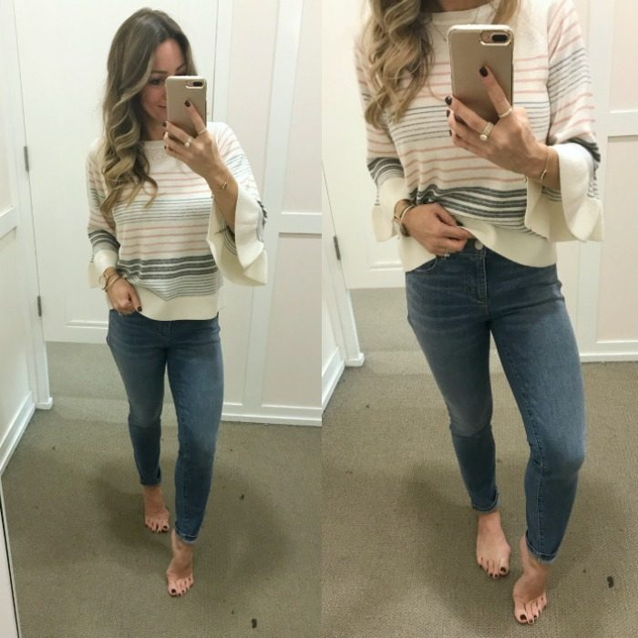 LOFT jeans and striped top