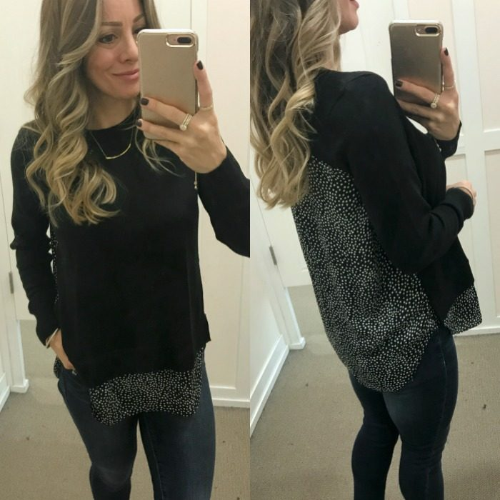 Loft faux layered top