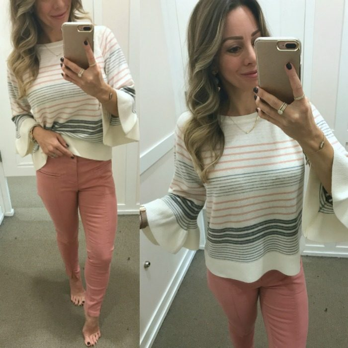 Loft pants and striped top