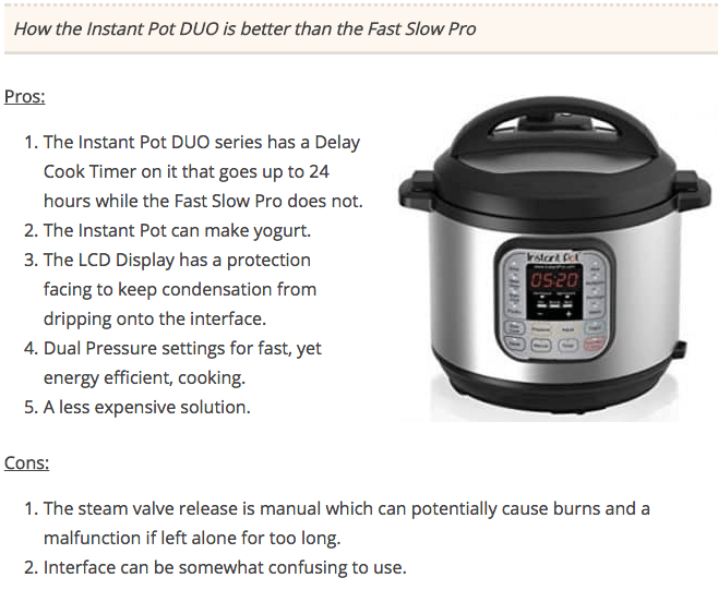 Fast Slow Pro vs Instant Pot