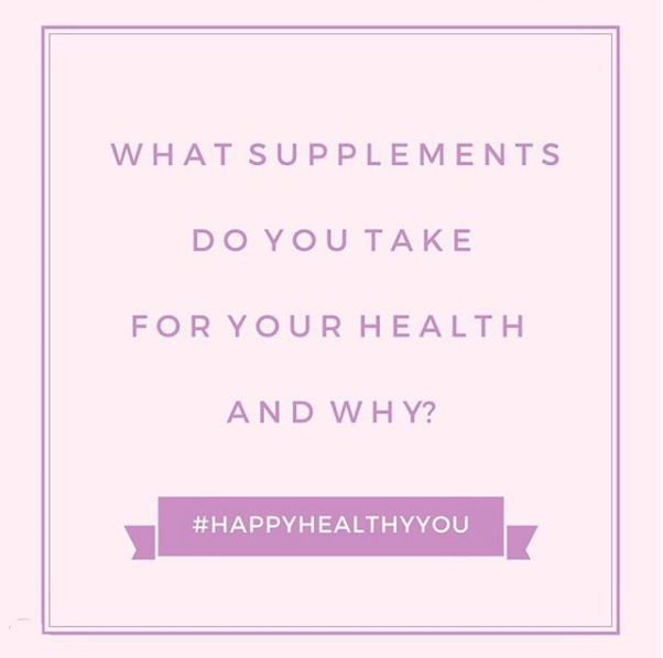 Supplements #HappyHealthyYou