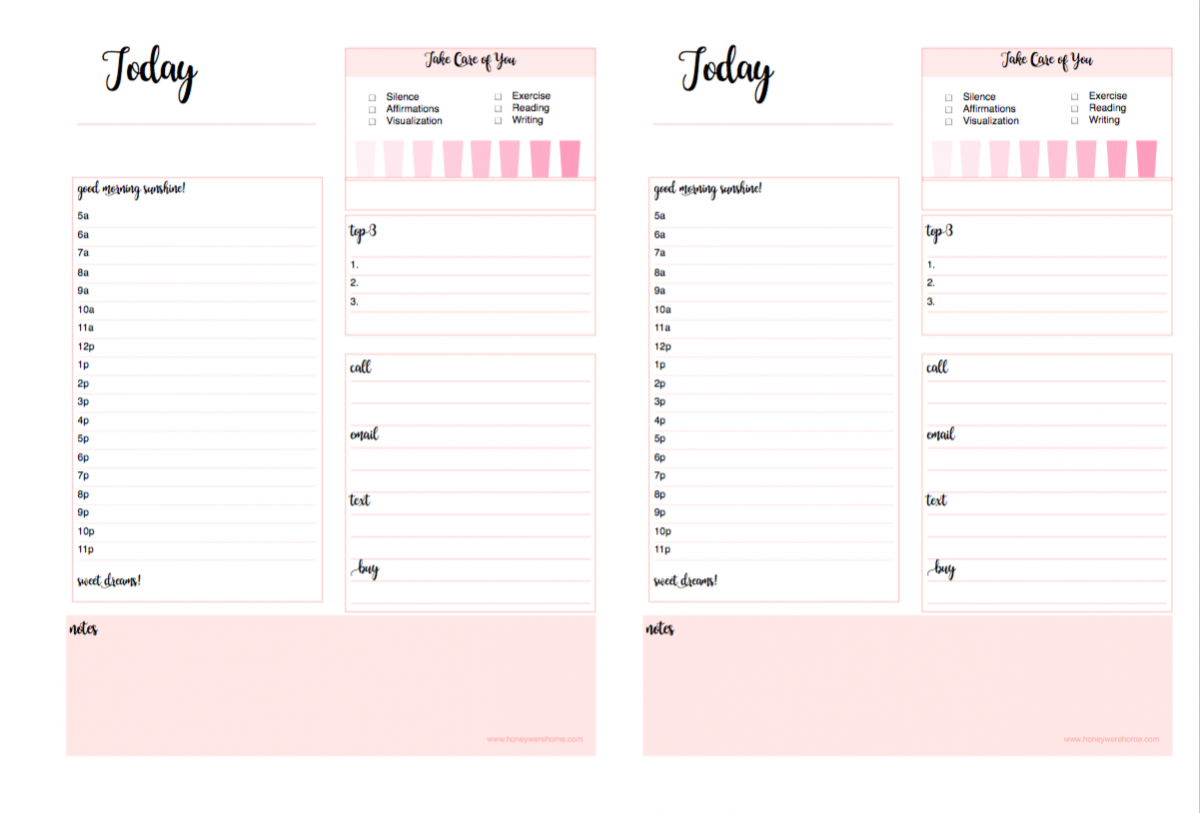 Double Daily Planner Printable