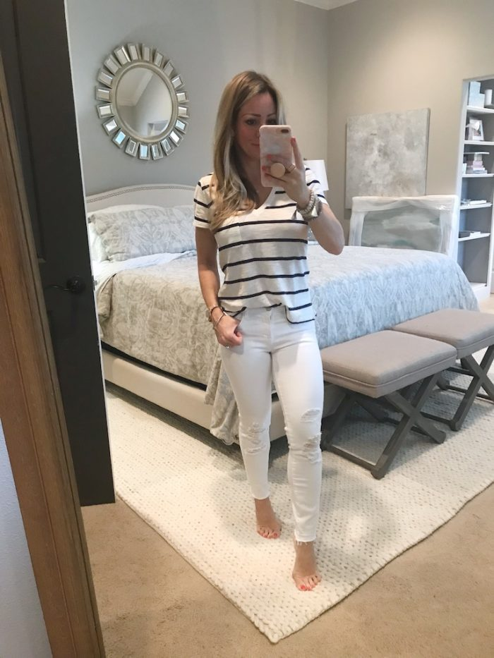 White Jeans Review - J Brand