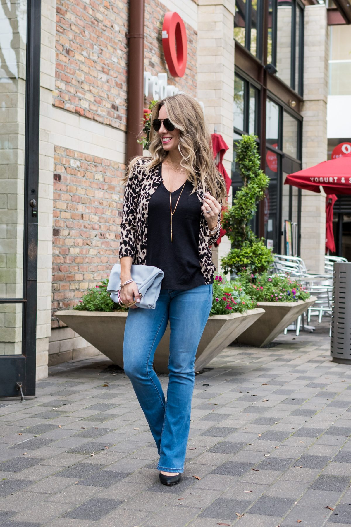 Bootcut Jeans with black tank-1-5