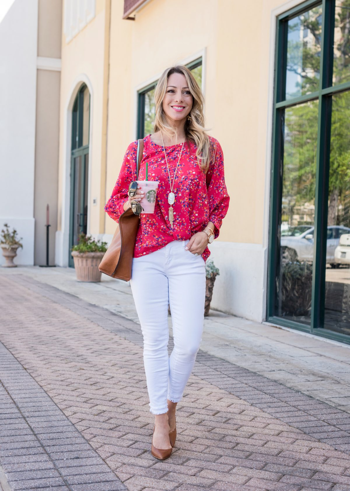 716f499c48 The combo of colors in this shirt will work with not only white jeans or white  pants