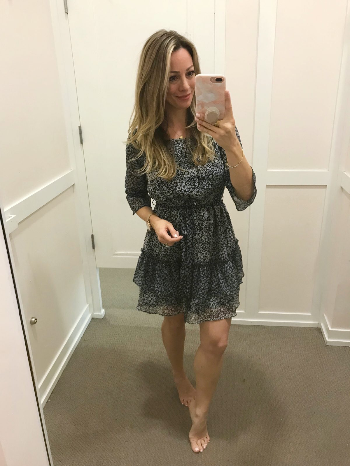 Dressing Room try-on Loft dress-1