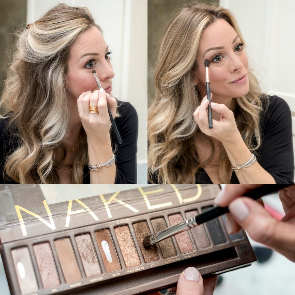 Easy Glam Makeup - blending shadow