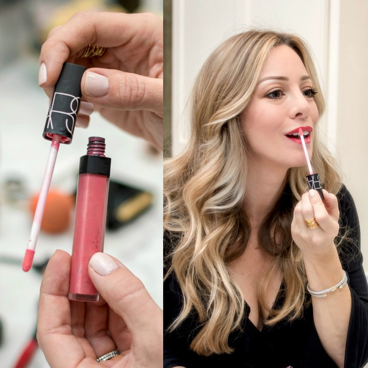 Easy Glam Makeup- lipgloss NARS