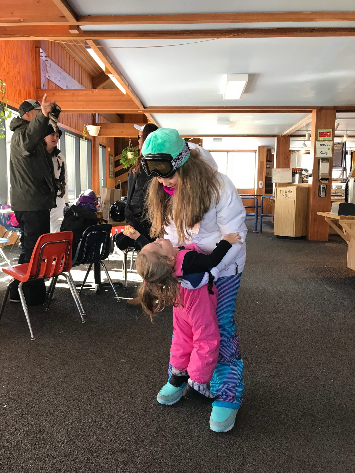 Family ski trip with toddler - ski lodge