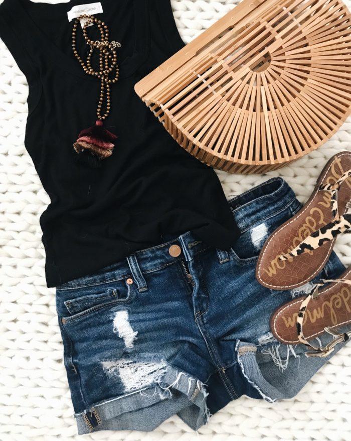 Jean Shorts Flat Lay-1