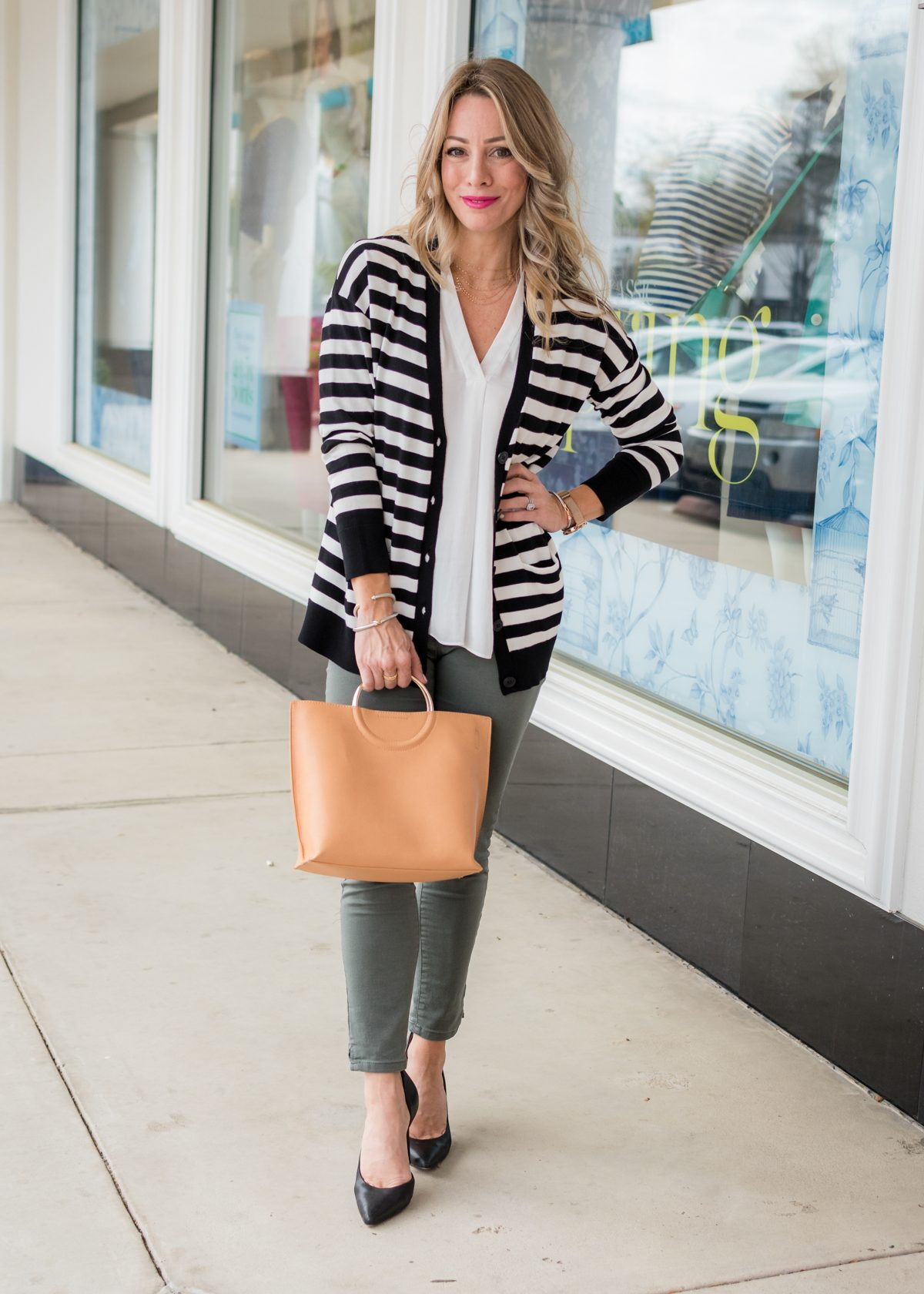 Skimmer Jeans and striped cardigan-1-3Skimmer Jeans and striped cardigan-1-3