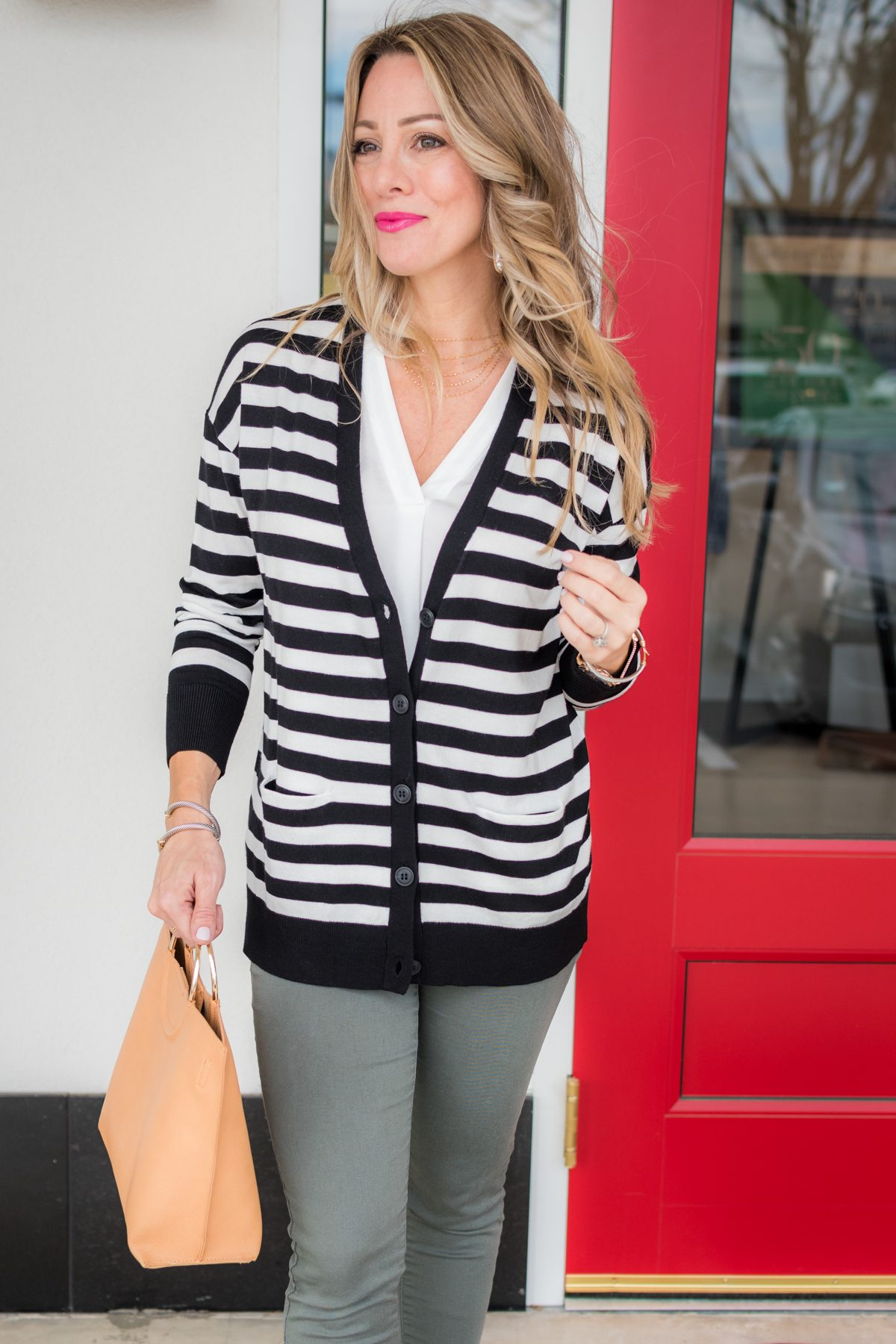 Skimmer Jeans and striped cardigan-1-6