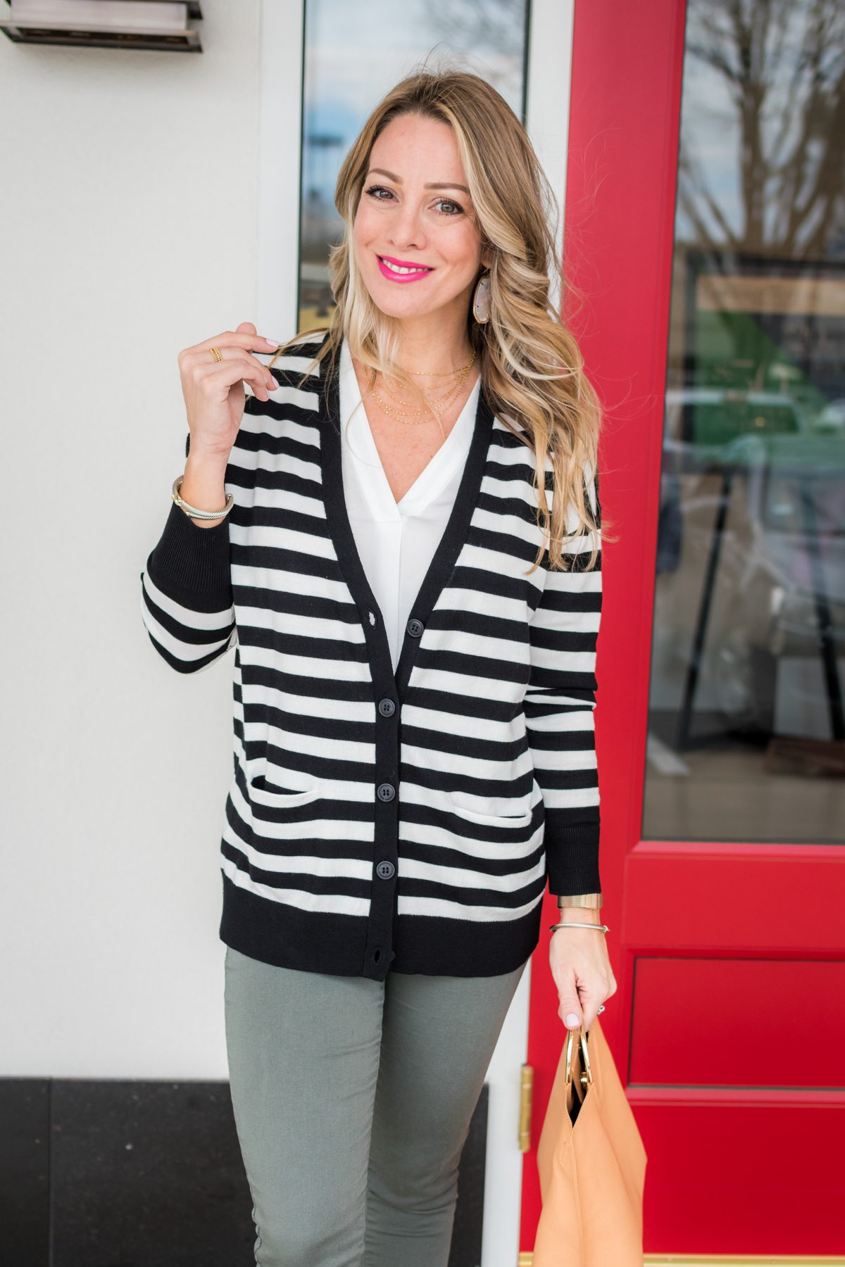 Skimmer Jeans and striped cardigan-1-7
