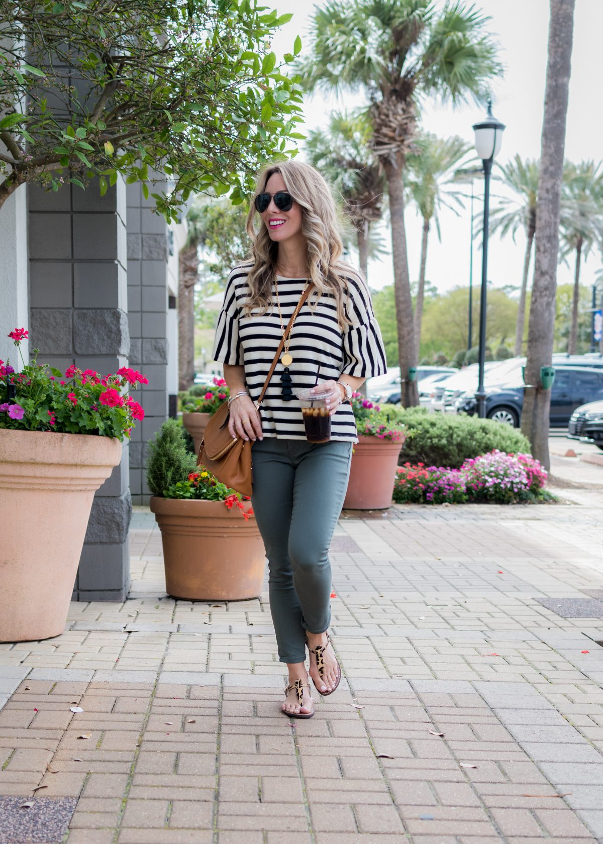 Skimmer Jeans and striped top-1