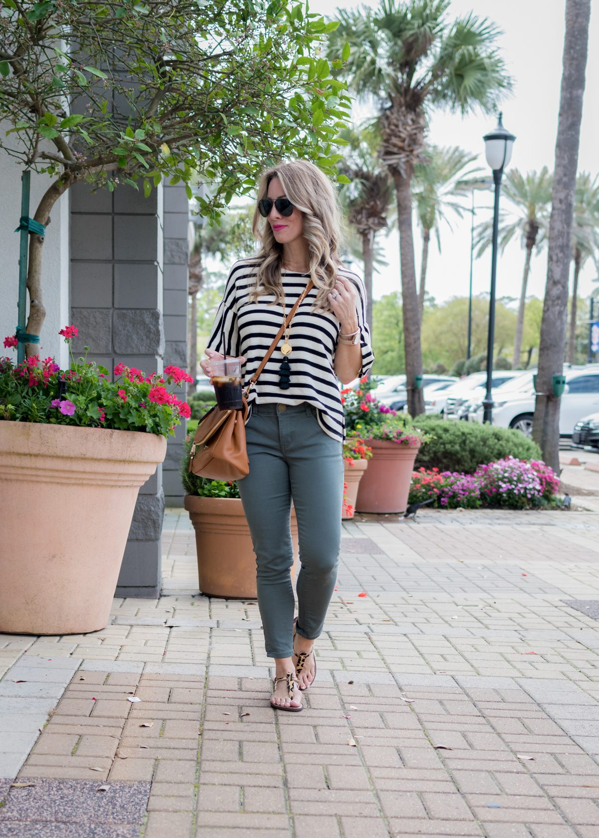 Skimmer Jeans and striped top-1-2