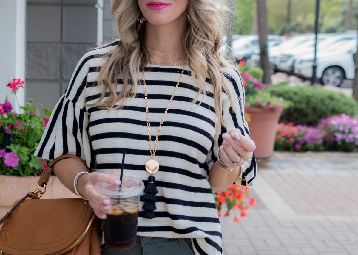 Skimmer Jeans and striped top-1-4