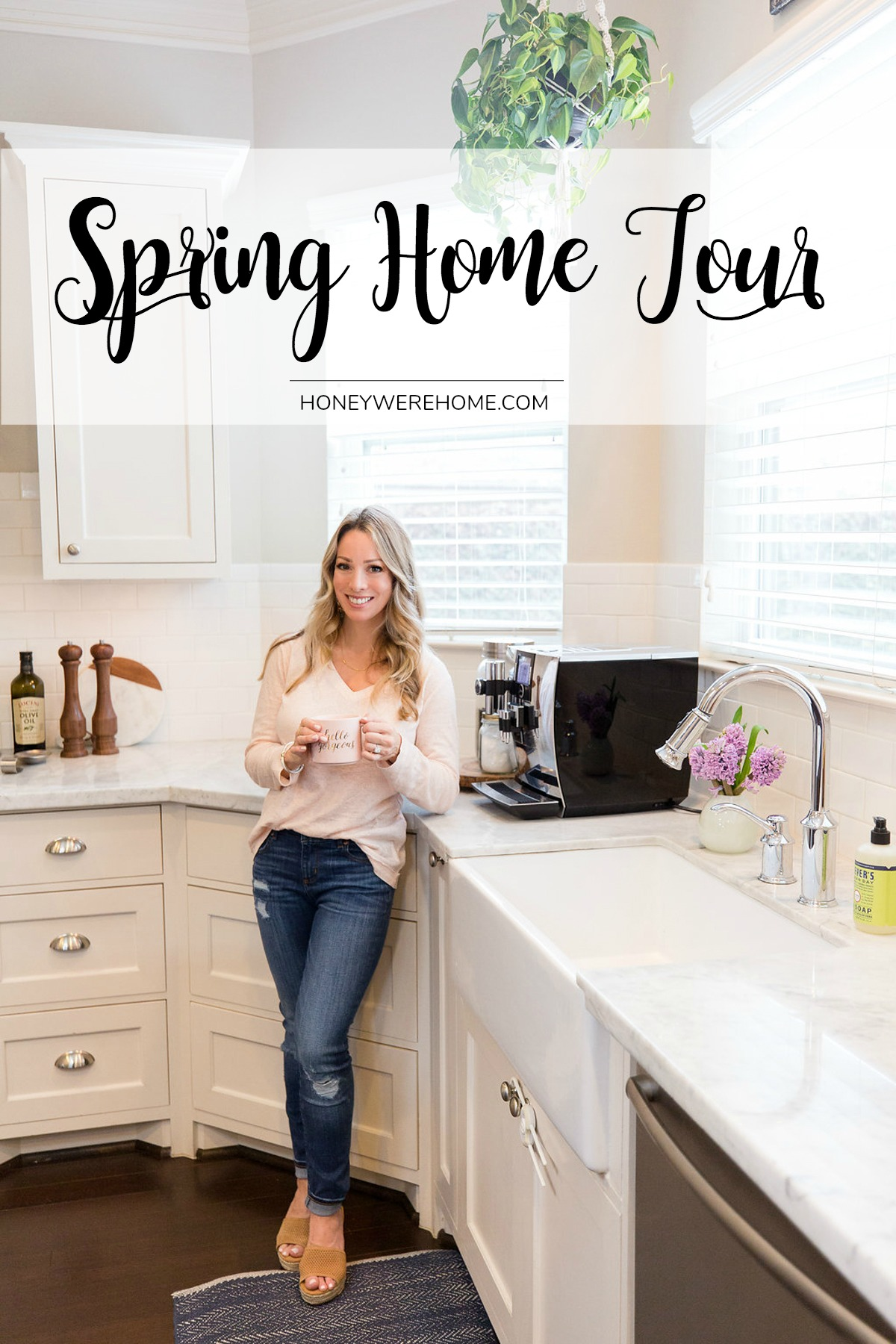 Spring Home Tour | Honey We're Home on pinterest easter crafts and decorations, pinterest easter decorations for a chirstmas tree, pinterest easter decorations for the home, pinterest projects for easter, pinterest wreaths for easter, pinterest games for easter, pinterest holiday ideas, pinterest diy for easter, pinterest easter table arrangements, pinterest crafts for easter, pinterest centerpieces for easter, pinterest spring decor, pinterest table decorations, pinterest craft ideas for spring, pinterest cookies for easter,