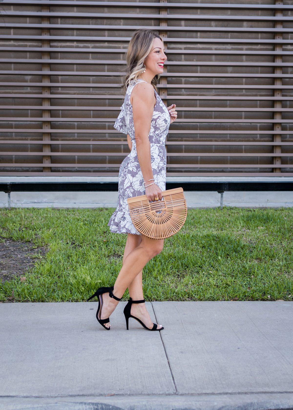 Stripe & Floral Ruffle Dress3
