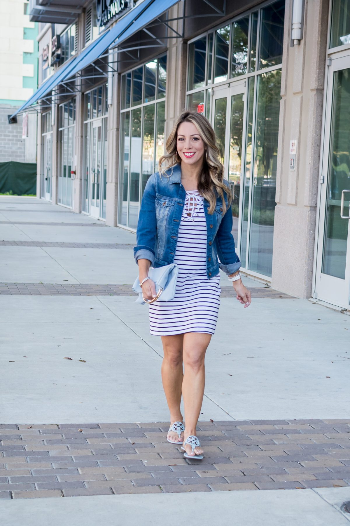 Striped shirt dress.10