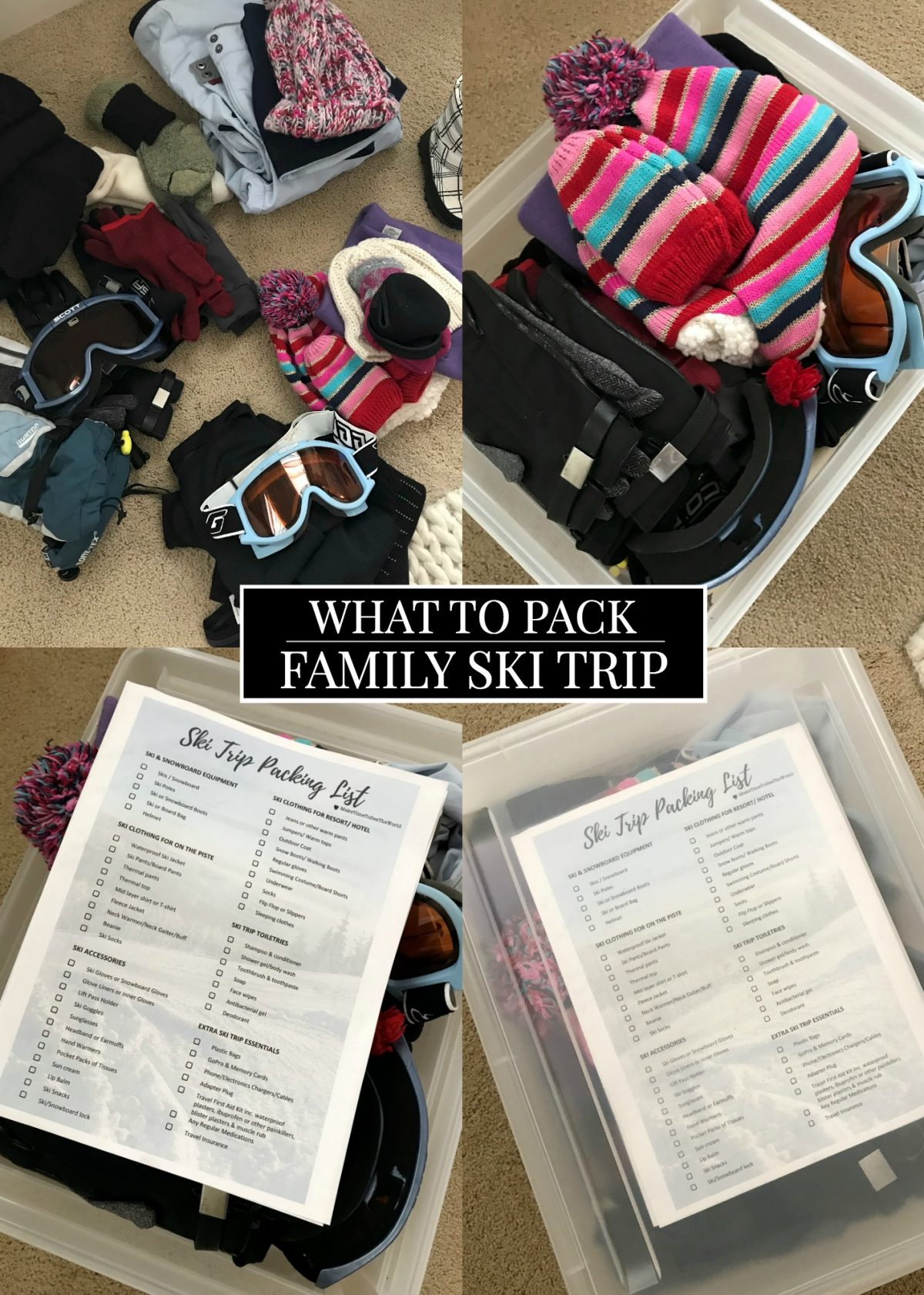 What to Pack Family Ski Trip