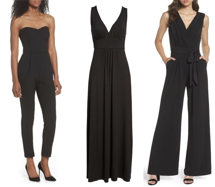 jumpsuit and maxi dress