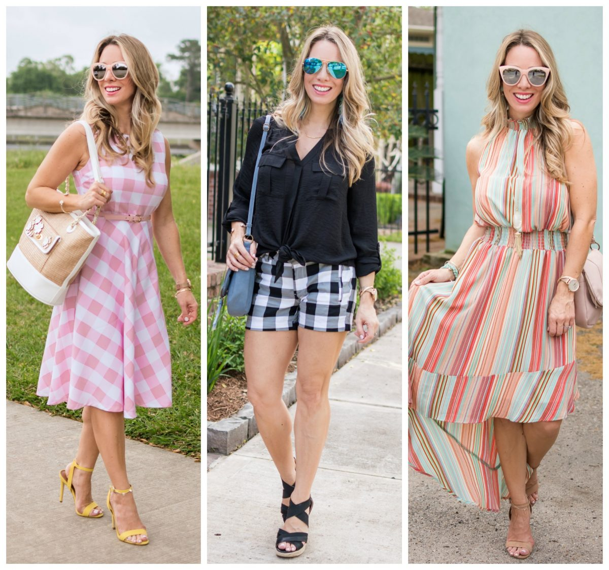 Gingham and Stripes Affordable Spring Fashion