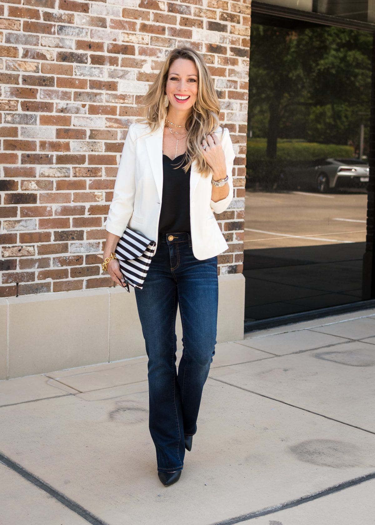 work  weekend  wow  how to style a white blazer with